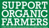 "Support Organic Farmers - Bumper Sticker / Decal (6.25"" X 3.5"")"