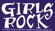 """Girls Rock - Bumper Sticker / Decal (5.5"""" X 3"""")"""