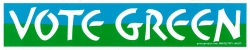 "Vote Green - Bumper Sticker / Decal (10.75"" X 2.25"")"