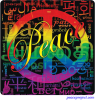 Peace Languages Word Cloud Rainbow - Window Decal