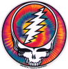 "Steal Your Face Tie Dye - Grateful Dead - Window Sticker / Decal (5"" Circular)"