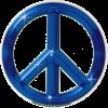 WA160 - Blue Peace Sign - Window Sticker