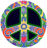 WA181 - Retro-Peace - Window Sticker