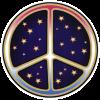 WA185 - Starry Peace Sign - Window Stickers