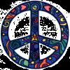 WA190 - Cosmo Peace Sign - Window Sticker