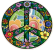 """Flower Peace - Window Sticker / Decal (4.75"""" X 4.5"""")"""