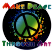 WA333 - Make Peace Through Art - Window Sticker