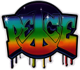 Graffiti Peace - Window Sticker