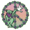 "Grateful Dead Dancing Bear Peace - Window Sticker / Decal (5.5"" Circular)"