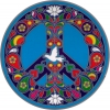 "Peace Dove - Window Sticker / Decal (5.5"" Circular)"