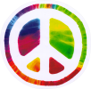 "Psychedelic Peace Sign - Window Sticker / Decal (4.75"" Circular)"