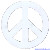White Peace Sign - Vehicle Magnet