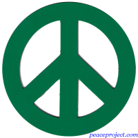 Green Peace Sign - Vehicle Magnet