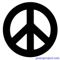Black Peace Sign - Vehicle Magnet
