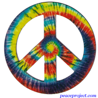 Tie Dye Peace Sign - Vehicle Magnet