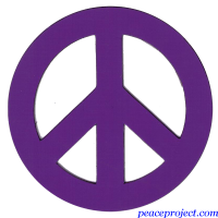 Purple Peace Sign - Vehicle Magnet