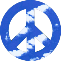 CMP8 - Clouds Peace Sign - Vehicle Magnet