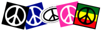 Peace Sign Bumper Stickers