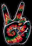 PS59 - Tie Dye Peace Fingers - Patch
