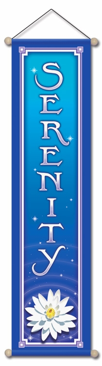 Serenity - Small Affirmation Banner