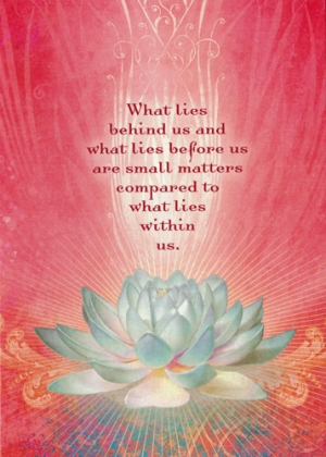 What Lies Behind Us and What Lies Before Us are Tiny Matters Compared to What...