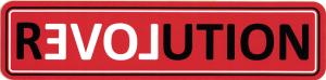 """Revolution - Small Bumper Sticker / Decal (6"""" X 1.5"""")"""