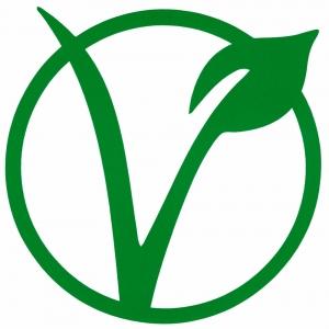 "Vegetarian Symbol - Small Bumper Sticker / Decal (3.5"" X 3.75"")"