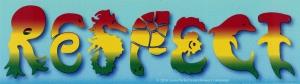 """Respect Sea Life (rasta version) - Small Bumper Sticker / Decal (5.5"""" X 1.5"""")"""