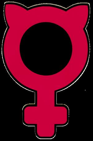 "Feminist Kitty - Small Bumper Sticker / Decal (2.75"" X 4.25"")"
