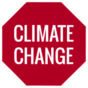"Stop Climate Change - Small Bumper Sticker / Decal (3"" X 3"")"