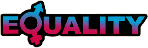 "Gender Equality - Small Bumper Sticker / Decal (5"" X 1.75"")"