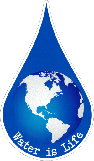 """Water Is Life - Small Bumper Sticker / Decal (2.5"""" X 4"""")"""