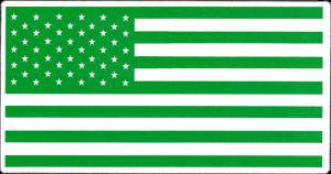 "Green Flag - Small Bumper Sticker / Decal (3.5"" X 1.75"")"