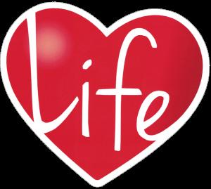 "Life Heart - Small Bumper Sticker / Decal (4"" X 3.75"")"
