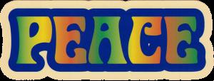 """Peace Bubble - Small Bumper Sticker / Decal (5.5"""" X 2"""")"""