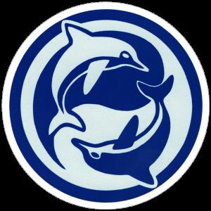 "Yin Yang Dolphin - Small Bumper Sticker / Decal (3.25"" Circular)"