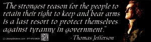 The Strongest Reason Reason for the People to Retain Their Right to Keep Arms
