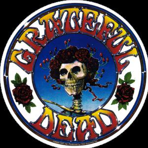 "Grateful Dead Skull and Roses - Bumper Sticker / Decal (5"" Circular)"
