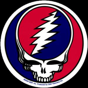 "Grateful Dead Steal Your Face - Bumper Sticker / Decal (5"" Circular)"