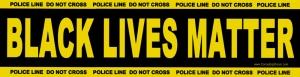 Black Lives Matter - Police Line Do Not Cross - Bumper Sticker / Decal