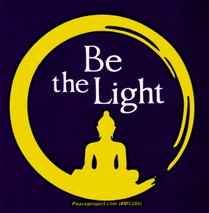 """Be The Light - Small Bumper Sticker / Decal (3"""" X 3"""")"""