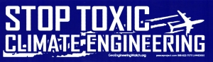 "Stop Toxic Climate Engineering - Small Bumper Sticker / Decal (7"" X 2"")"