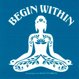 """Begin Within - Small Bumper Sticker / Decal (3.25"""" X 3.25"""")"""