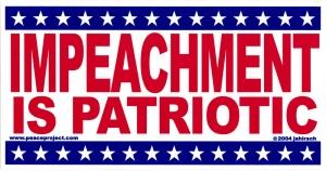 "Impeachment is Patriotic - Bumper Sticker / Decal (7.75"" X 4"")"
