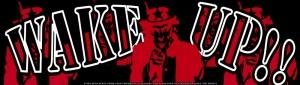 "Wake Up!! - Bumper Sticker / Decal (10.5"" X 3"")"