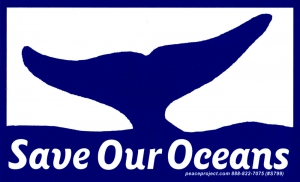 """Save Our Oceans - Bumper Sticker / Decal (5.25"""" X 3.25"""")"""