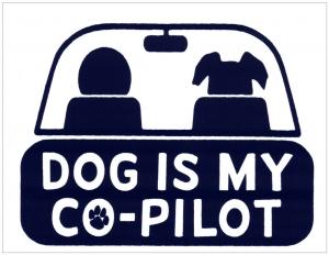 "Dog is My Co-pilot - Bumper Sticker / Decal (5.5"" X 3.75"")"