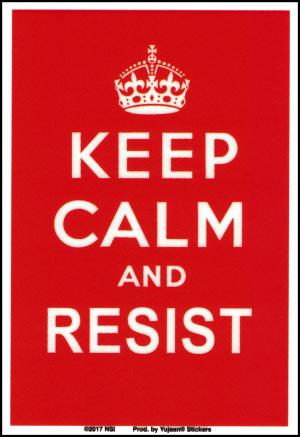 "Keep Calm and Resist - Window Sticker / Decal (3.5"" X 5.25"")"