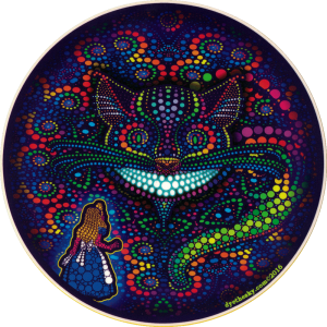 "Cheshire Cat - Window Sticker / Decal (5.5"" Circular)"