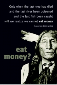 We Cannot Eat Money - Postcard